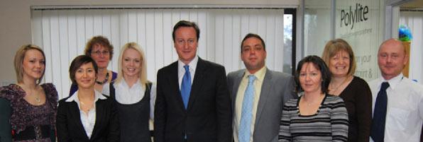 Polythene UK team with David Cameron
