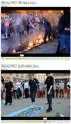 Firewalking With the Charity SpecialEffect   UK Polythene & Pallet Cover Supplier