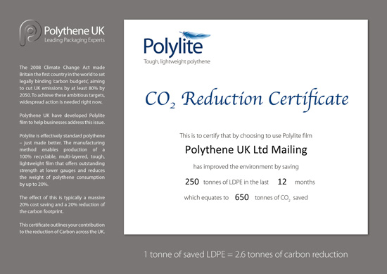 Polythene UK CO2 Certificate